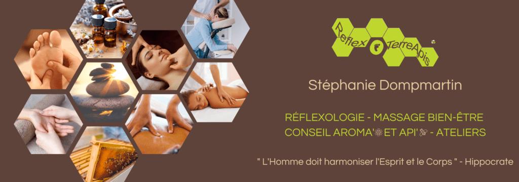 Identité Réflexologie Massage Stéphanie Dompmartin Groisy Haute-Savoie
