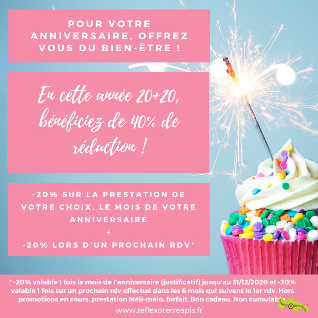 Anniveraire Cadeau Réflexologie Massage Groisy ReflexoTerreApis Haute-Savoie